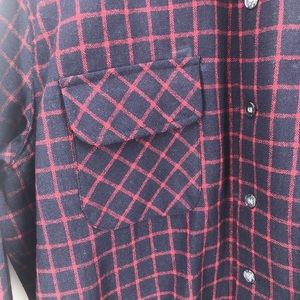 Vintage JC Penney Long Sleeve Flannel Button Shirt